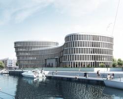 AIDA Cruises legt den Grundstein für neuen Bürokomplex in Rostock